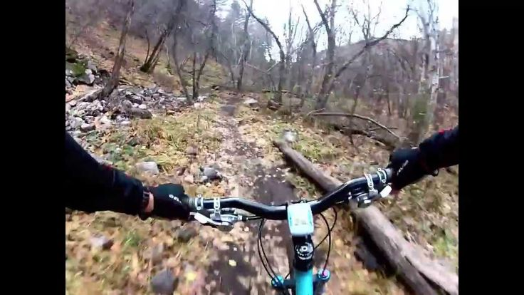 Mtn Biking Green Canyon with amazing fall colors on a Yeti 575
