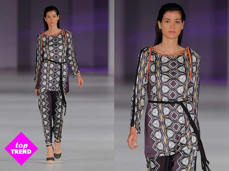 ¡Apuesta por un outfit cómodo pero sofisticado con este total look geométrico súper ligero! //   Opt for a comfortable yet sophisticated outfit with this super light geometric total look!  Tunic: http://bit.ly/MalikMoshikoCusto Baggy pants: http://bit.ly/BaggyMoshikoCusto