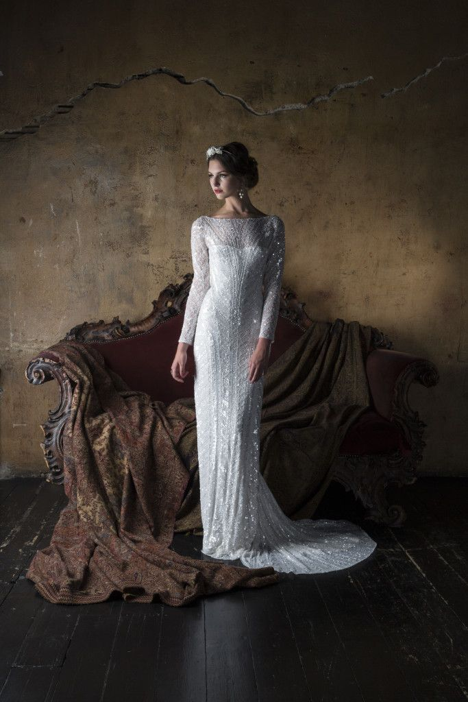 Eliza Jane Howell - Angelica. Beautiful Art Deco inspired bridal gowns. Available at The Tailor's Cat, Cambridge 01223 366700