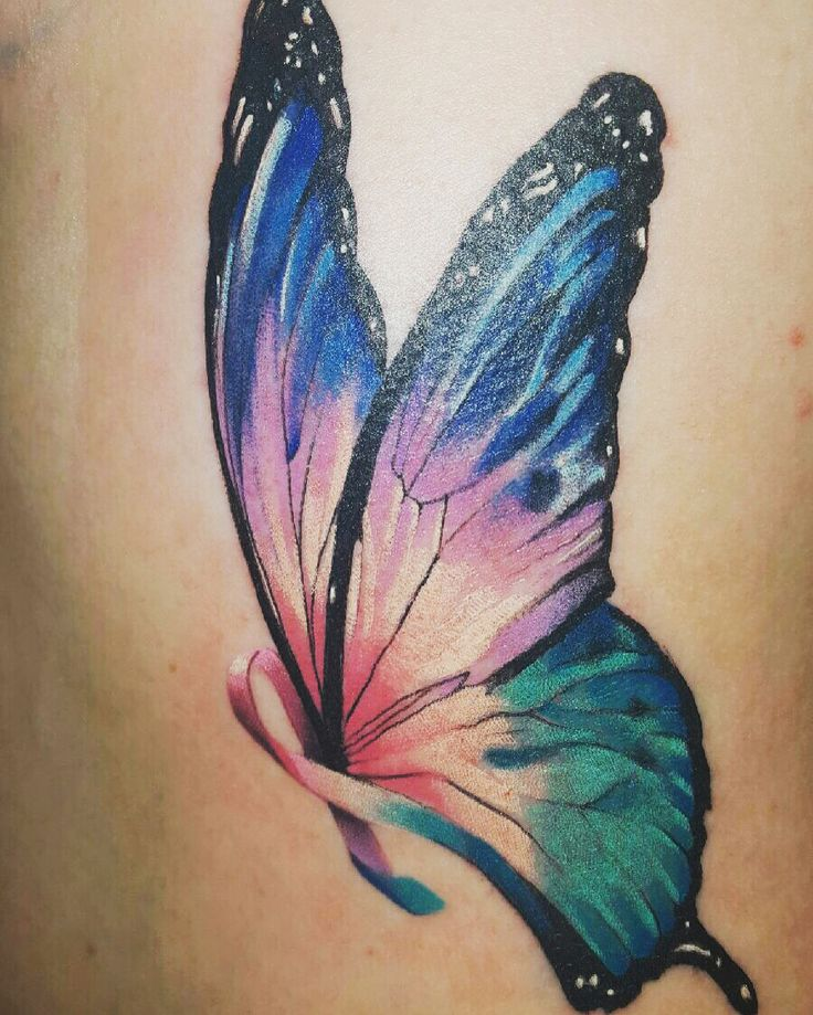 I really don't think I'll ever get a tattoo. But this is beautiful for thyroid cancer awareness. Love the coloring
