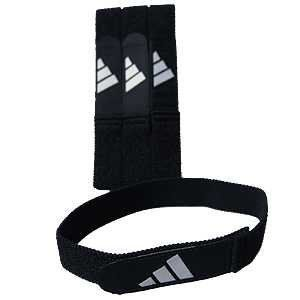 Adidas Soccer Shin Guard Straps, Black by adidas. $12.95. About adidas                The vision of company founder Adolf Dassler has long become reality, and his corporate philosophy the guiding principle for successor generations. The idea was as simple as it was brilliant. Adi Dassler's aim was to provide every athlete with the best possible equipment. It all began in 1920, when Adi Dassler made his first shoes using the few materials available after the First ...