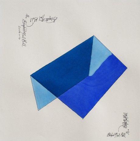 Waterfall original Drawing @stephenneilgill @vango #waterfall #drawing #art #h20 #blue #geometric #concept #conceptualart #colorblock #ellsworthkelly #minimalism #midcenturymodern #contemporaryart modernart #corporateart