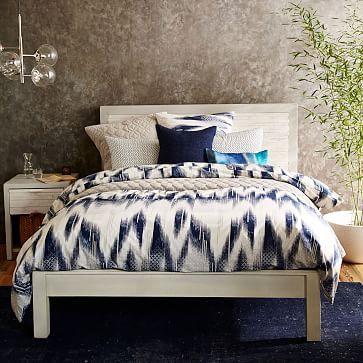 Bay Reclaimed Pine Bed - Whitewashed #westelm