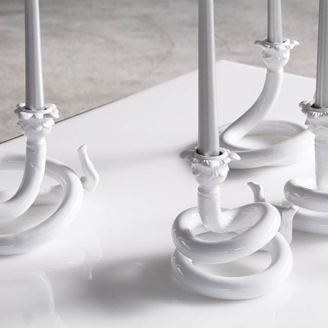 Prolungalume - light up your winter. #editamateria #design #ceramics #handmade #winter #light #candlestick
