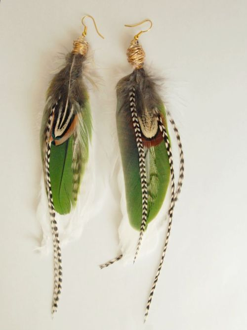 Feather Earrings. My next DIY project