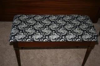 Piano Bench Cover Tutorial