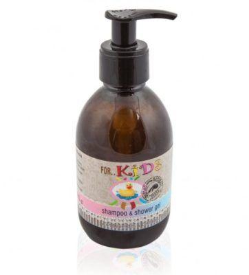 Natuurlijke shampoo en douchegel voor Kinderen 250ml. baby shampoo