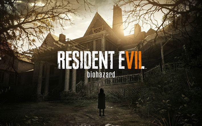 Download wallpapers Resident Evil 7, Biohazard, 2017, survival horror, computer game, poster