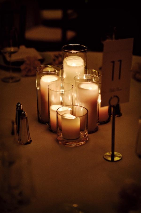 Candle Centerpiece    Photography by jessandnatestudios.com, Event Planning   Design by vivaladivaevents.com