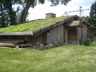 VikingHjem, a replica of a Viking smithy's home circa 900 AD, Elk Horn, Iowa.