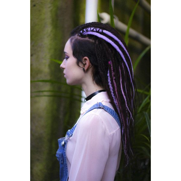 Set of Natural Look De Dreads Double Ended Dreads Accents Pastel Pink... (23 AUD) ❤ liked on Polyvore featuring accessories, grey and hair accessories