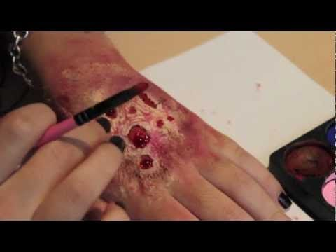 Rotting Flesh/ Zombie Skin Makeup (So easy you can do it with no brains... get it?) - YouTube