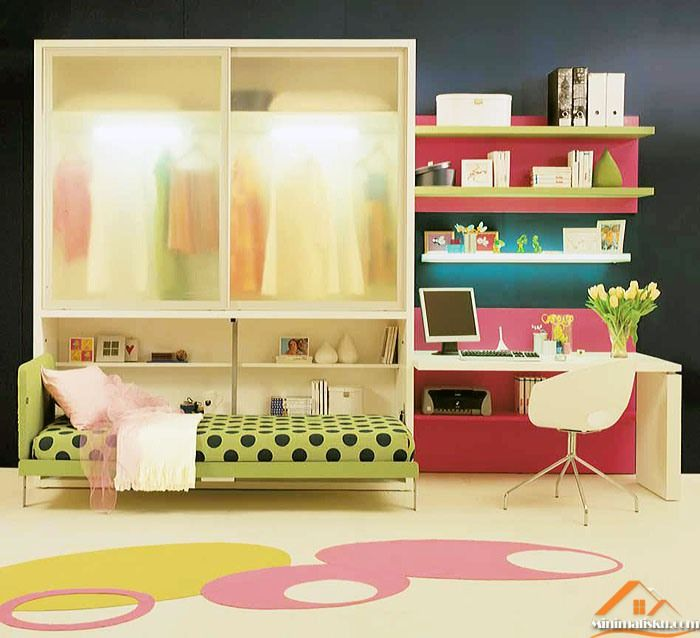 Desain Kamar Tidur Anak Perempuan Sederhana - http://minimalisku.com/desain-kamar-tidur-anak-perempuan-sederhana