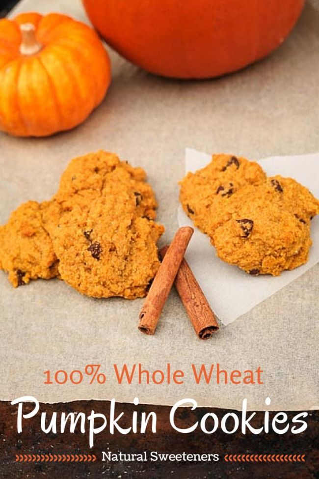 Healthy Whole Wheat Pumpkin Cookies. 80 cookies with only 1/2 cup honey to sweeten!? whole grain, soft, and addictive...you need this recipe.