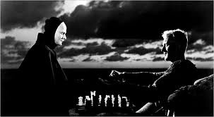 the seventh seal.Ingmar Bergman'S, Film Worth, Perfect Photos, Met Death, Death Today, Seventh Seals, Plays Chess, Seals 1957, Cinema Stylo