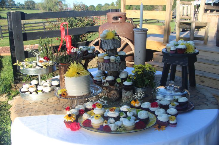 By The Love Shack Rustic Barn Outside Wedding Decor