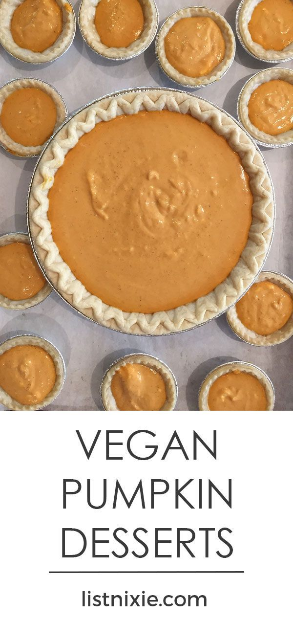 15 vegan pumpkin recipes for your sweet tooth - Here is a collection of sweet vegan pumpkin recipes that will help you get your pumpkin fix for breakfast, brunch, or dessert.   listnixie.com