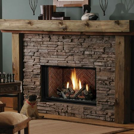 Vented gas fireplace insert and Indoor gas fireplace