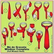 como dar no de windsor completo em gravata