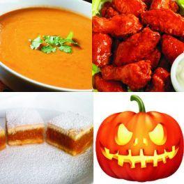 Meniu Halloween Supa Crema de Dovleac, Aripioare Picante si Placinta cu Dovleac