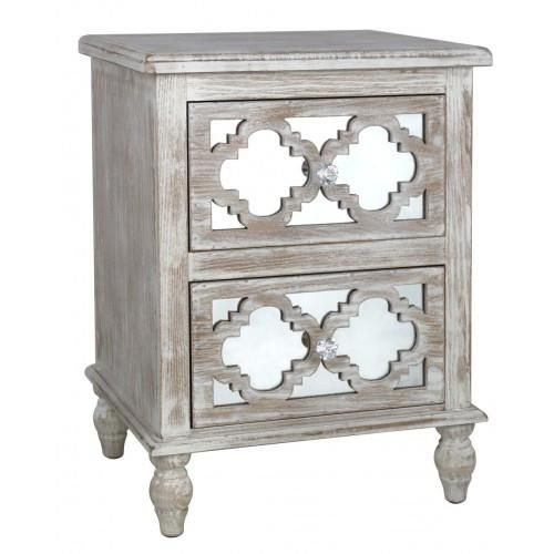 ThisHamlin Beach 2 Drawer Cabinet can be used as a lamp table or a bedside, To fit in with the rest of the range. Solid wood is limed to make the frame, Then t