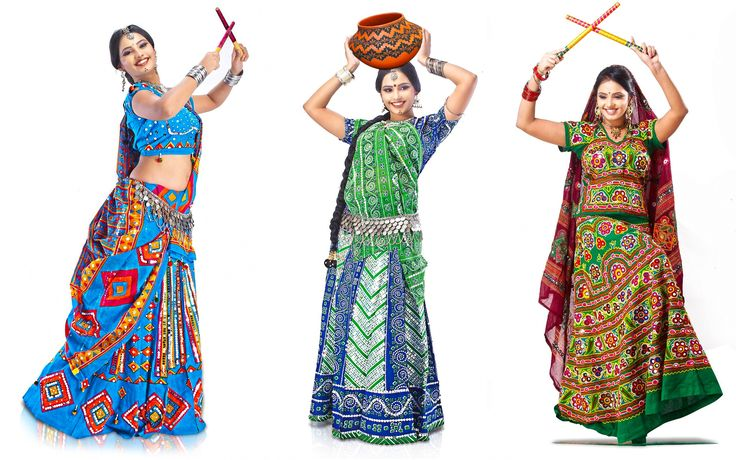 Garba dance is performed in Durga's honour,dance is actually a staging of mock-fight between the goddess & Mahishasura.Dandiyas(Sticks) represent swords of Durga.Get all collection of garba on rent online from rent2cash.
