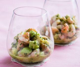 Verrine met roze garnalen en avocado | SPAR