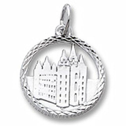 Mormon Temple Charm In Sterling Silver, Charms for Bracelets and Necklaces…
