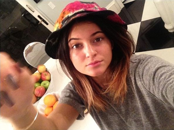 Kylie Jenner without makeup.