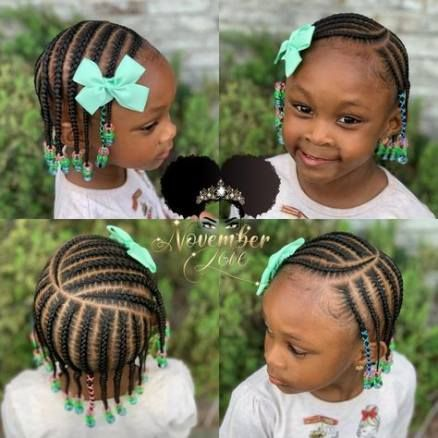 32 ideas braids for kids black cornrow beads cute