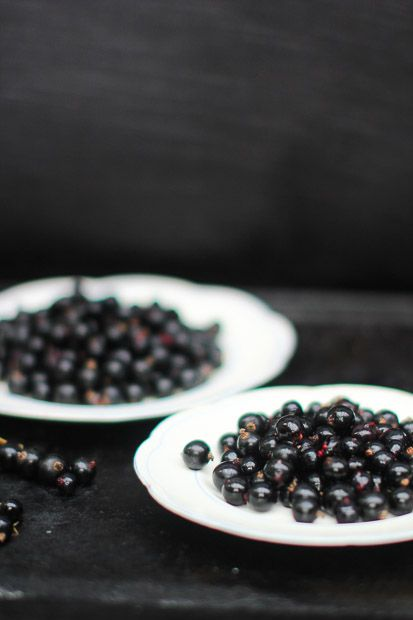 Blackcurrants for a smoothie.