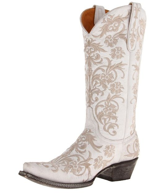 Ladies Western Boots | ... white embroidered old gringo western clarise cowboy boots for women