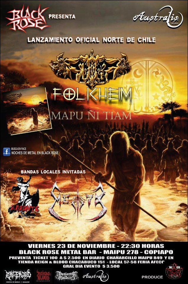 23 de Noviembre: Lanzamiento Folkheim en Copiapó #folk #metal #chile #folkheim #poster #gig