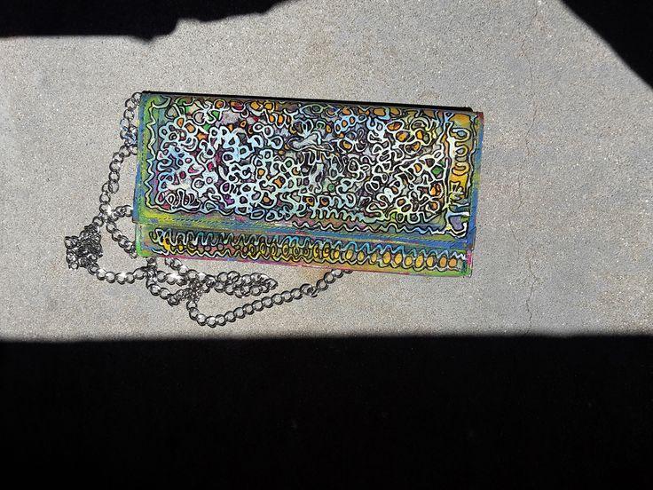 Sac street art avec myriade de couleurs. Idéal pour un cocktail . Made by moduscray