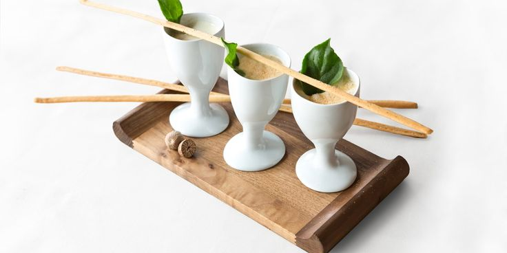 An elegant canapé recipe from French chef Pascal Aussignac; a creamy Parmesan mousse with thin Parmesan crisps to serve.
