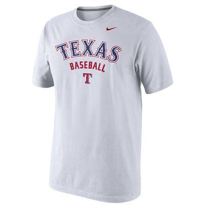 Texas Rangers Nike MLB Practice 1.4 T-Shirt (White)