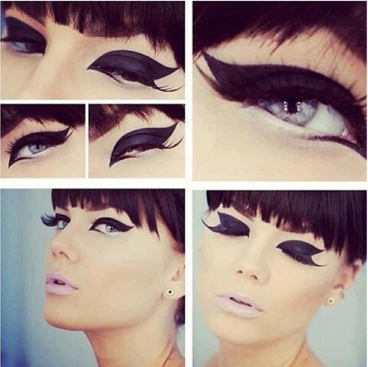 evil villain eyeliner. Don't like the lipstick, though.
