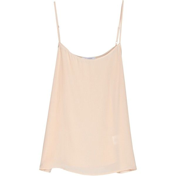 Women's Cara Cami Made From Silk Women's Shirts By Equipment ($98) ❤ liked on Polyvore featuring tops, nude, cami top, shirts & tops, layering shirts, silk camisole tops and boxy shirt