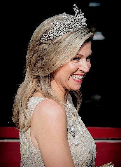 """princess-ingridalexandra:  """"Queen Máxima of the Netherlands at the Diplomatic Corps Gala, 23 May 2017.  """""""