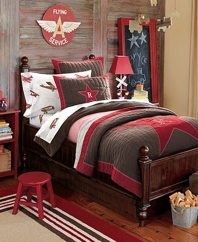 bedding for brock with denim and gingham sheets love brown and red