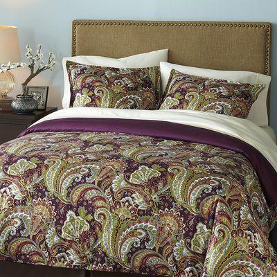 Shangri-La Paisley Bedding u0026 Duvet...wonder if I could get hubby