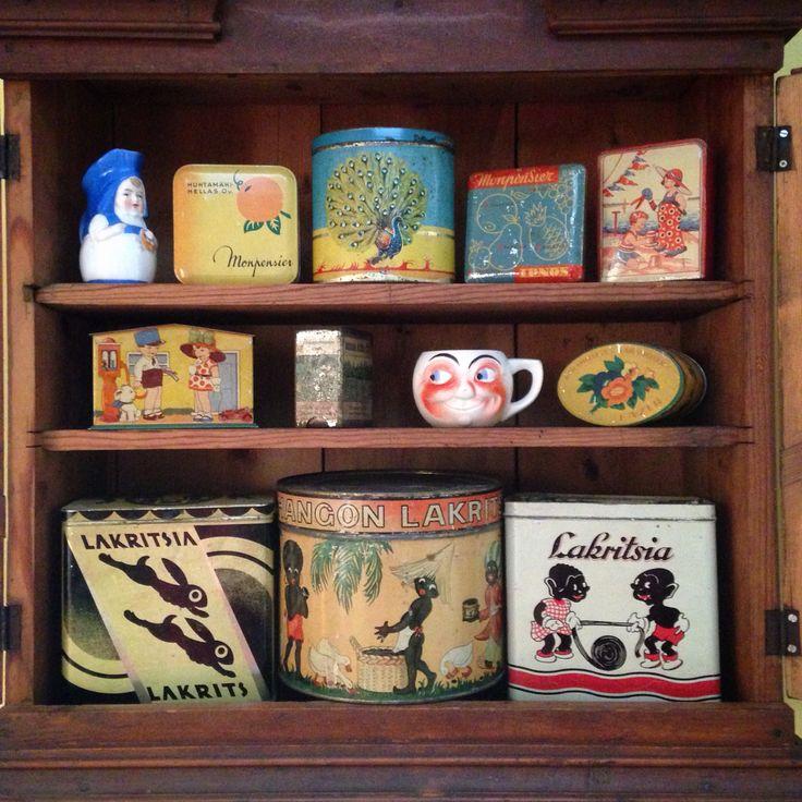 My own vintage tins.