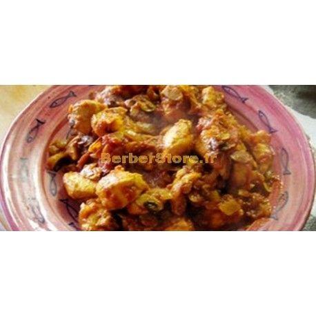 Tajine de veau aux oignons, miel et safran  Préparation : 70Min