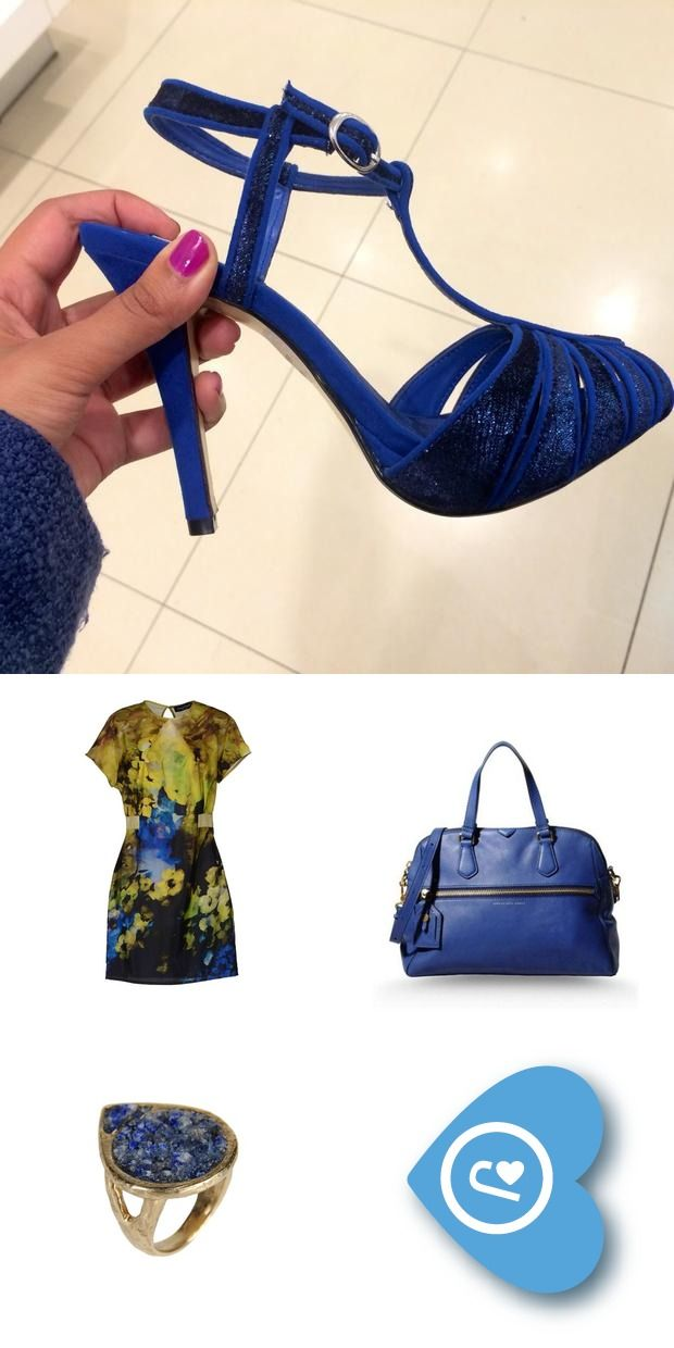 How to wear blue party shoes! #blue #shoes #outfits Brands: Marc Jacobs, Master & Muse, Adele Fado