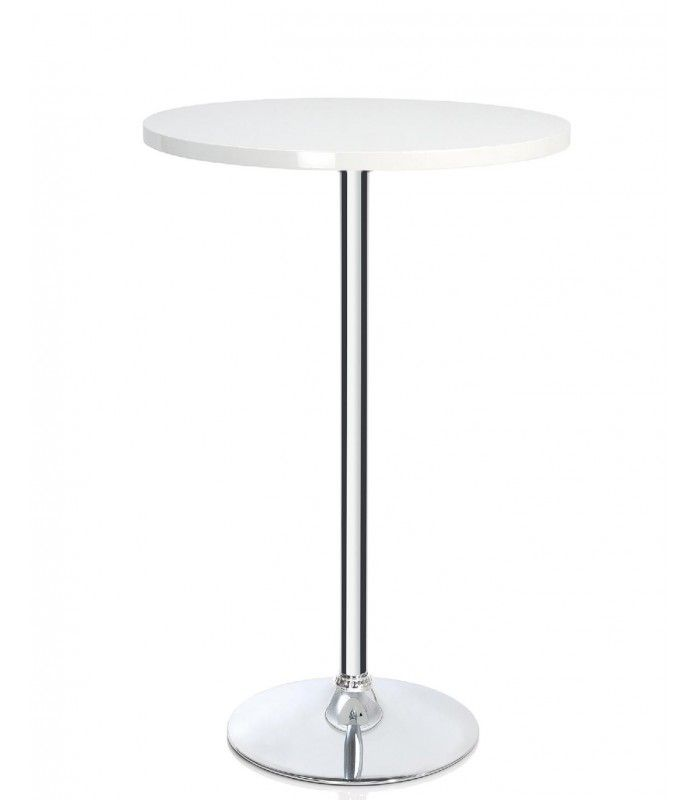 Amazing Table De Bar Blanc #11: Table Haute De Bar Ronde Design Bois Blanc