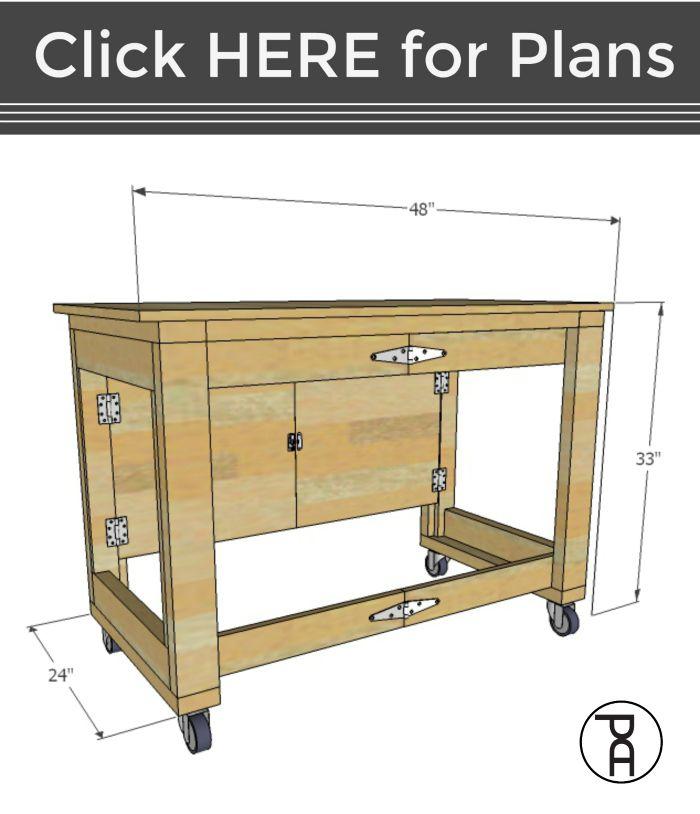 Folding Mobile Workbench Video Tutorial Mobile Workbench Folding Workbench Woodworking