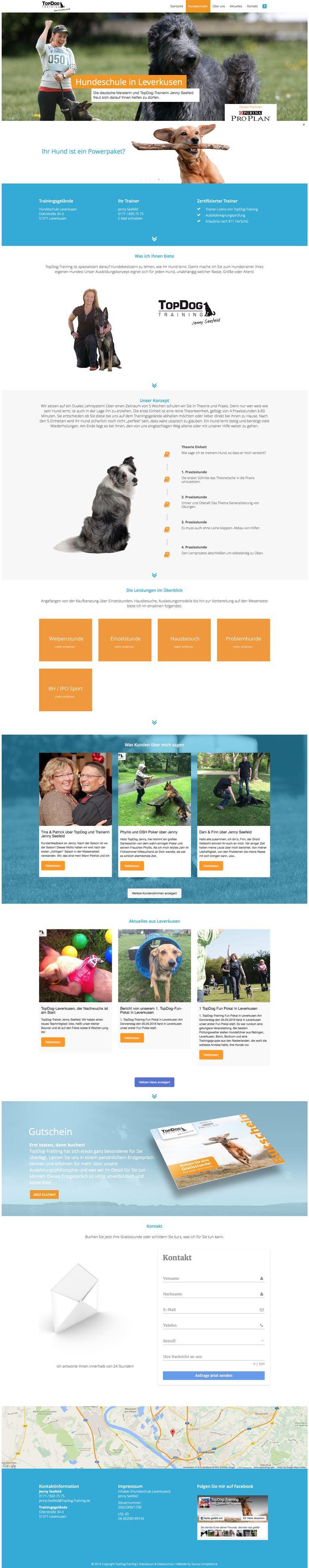 Webdesign Hundeschule