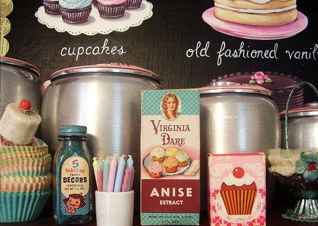 pretty vintage baking cupboard - jenny holiday