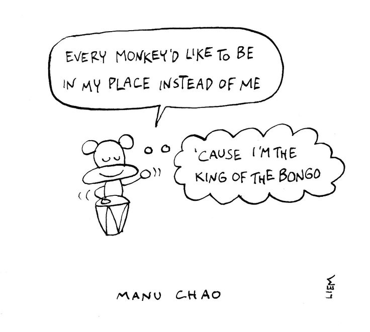 Manu Chao. King Of The Bongo. 365 illustrated lyrics project, Brigitte Liem.