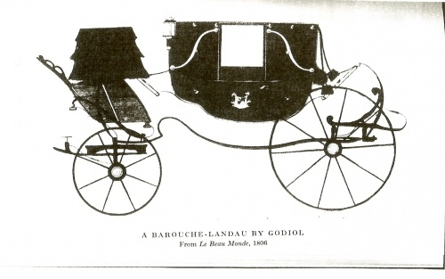 A Barouche-landau ...Many of these would be seen in Hyde Park at the fashionable hour for the Ton...